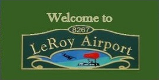 Welcome to LeRoy Airport Sign